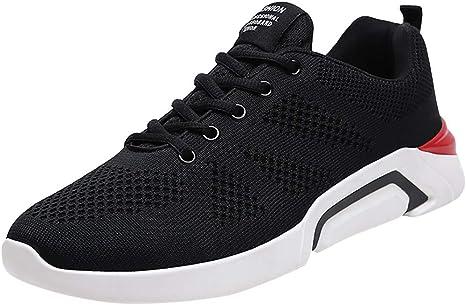 ღLILICATღ Zapatillas para Correr para Hombres y Mujer,Zapatos Hombre Deportivos Transpirables Casual Yoga Gimnasio Correr Sneakers Athletic Cordones Air Cushion Running Sports Sneakers: Amazon.es: Deportes y aire libre