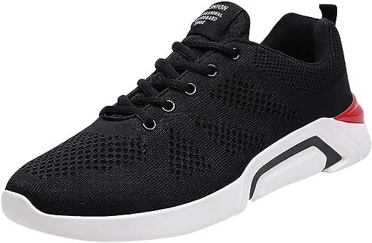 ZARLLE Modelos de Pareja Tejido Volador Malla Zapatos Casuales,Zapatos de Cordones para Hombre,Deportivos estudiantil Zapatos para Correr,Calzado Transpirable,Zapatillas de Running: Amazon.es: Ropa y accesorios
