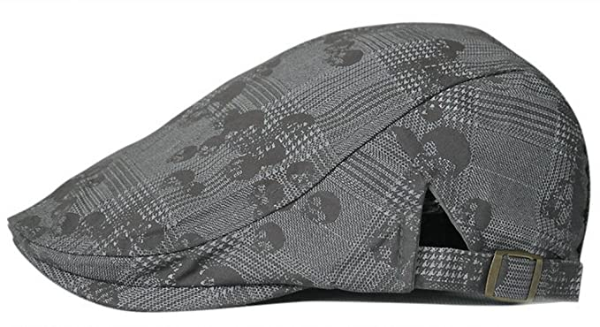 ef154cc008d Gumstyle FASHION Men Womens Duckbill Ivy Cap Golf Driving Flat Cabbie  Newsboy Beret Hat SkullGrey