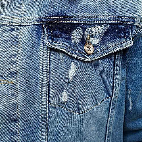 2 Il Caldo In Epoca Giacca Inverno Uomo Cappotto Moda Ronamick Difficoltà Strada Lunga Autunno giù Luce Pulsante Demin Blue Girano Giacca Outwear Mens Manica tqg6ww