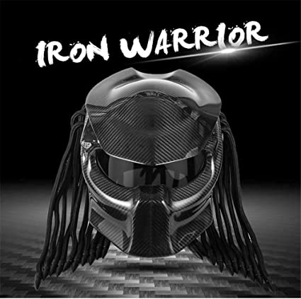 Lmj Qxhat Motorrad Predator Helm Carbon Full Face Iron Warrior Herrenhelm Dot Safety Certified Full Face Modular Helm Rot Blau Schwarz Sport Freizeit