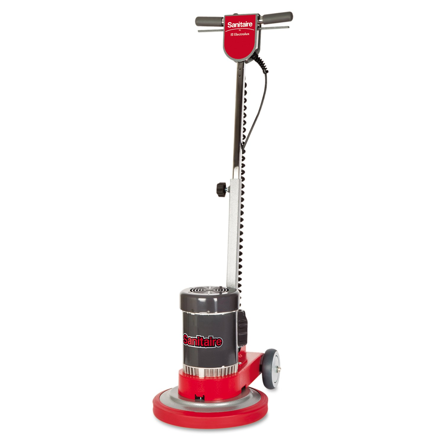 Sanitaire EUKSC6001B Floor Machine, 0.5 HP Power, 25' Cord, 19'' Length x 13'' Width x 34'' Height, Red