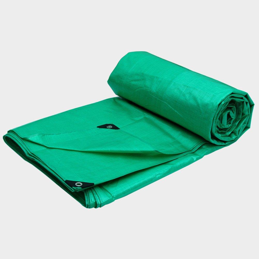 LQQGXL 高強度を折り畳むことが容易な屋外の肥厚日除け防塵プラスチック布を覆うターポリンレインコートの日焼け止めトラック 防水シート (色 : Green, サイズ さいず : 8x12m) 8x12m Green B07JH28S29