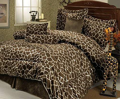 Kaputar 7 Piece Giraffe Animal Kingdom Bedding Comforter Set | Model CMFRTRSTS - 6007 | Cal King