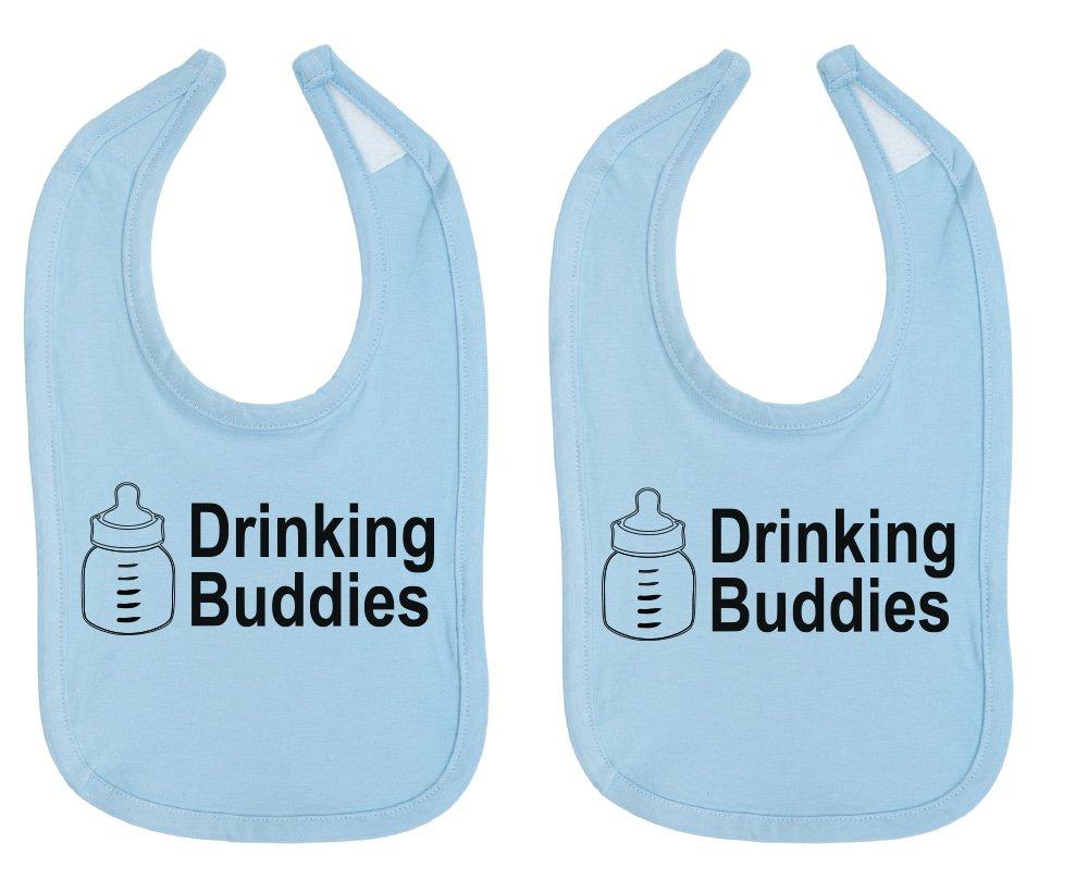 Milk Drinking Buddies Twin Set Unisex Newborn Baby Soft 100% Cotton Bibs