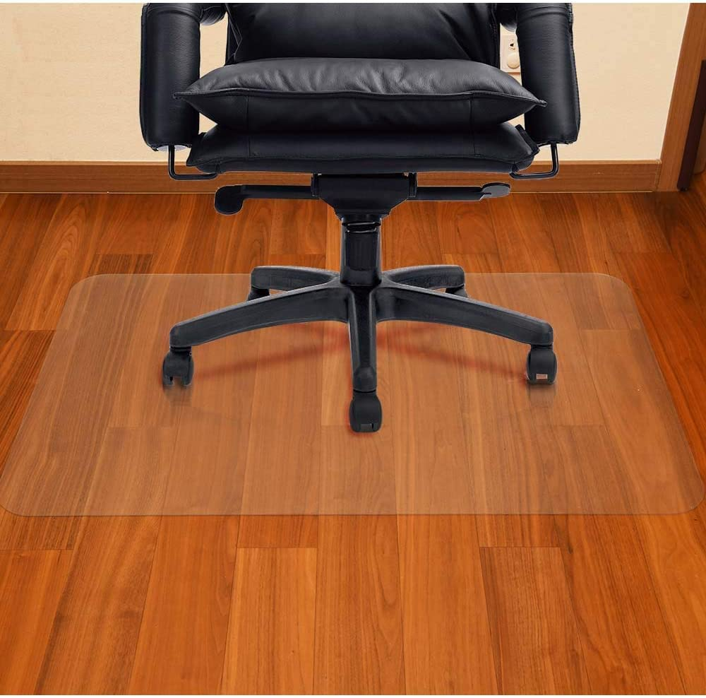 AiBOB Office Chair mat for Hardwood Floor, 30 x 48 inches, Easy Glide for Chairs, Flat Without Curling, Floor Mats for Computer Desk