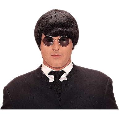 Amazon.com  60s Beatles Moptop Black Costume Wig  Clothing d049b7239131