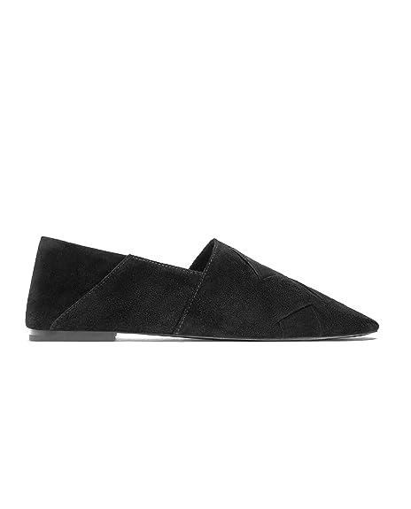 Zara - Mocasines de Otra Piel Mujer, Negro (negro), 35 EU: Amazon.es: Zapatos y complementos