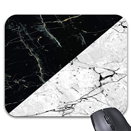 Amazoncom Smity 106 Mouse Pads Black Gray Marble Mouse Mat 118
