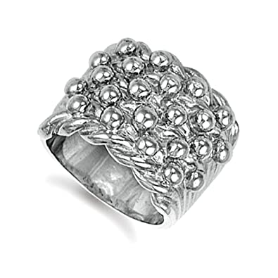 Silver Gents 5 Row Keeper Ring