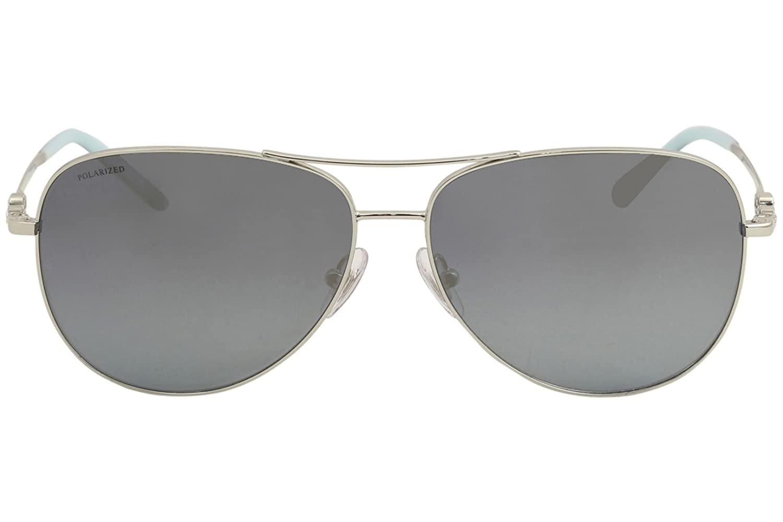 e8585ffb1255 Tiffany   Co. Women TF3052B 59 Silver Blue Sunglasses 59mm at Amazon  Women s Clothing store