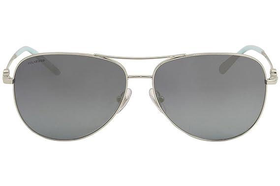 e82a1555f0 Tiffany   Co. Women TF3052B 59 Silver Blue Sunglasses 59mm at Amazon Women s  Clothing store