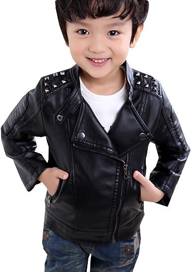 Lserver Garçon Veste En Simili Cuir Manches Longues Blouson Printemps Automne Pour Enfant Amazon Fr Vêtements Et Accessoires