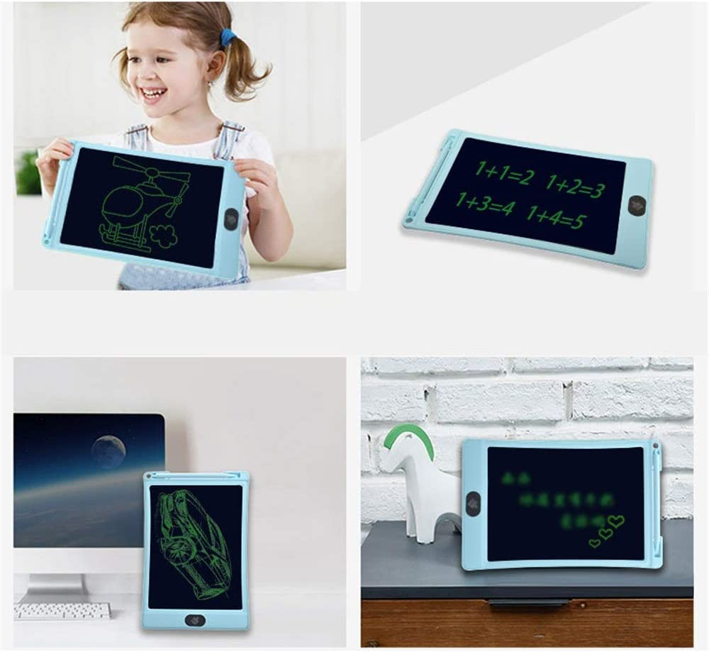 Color : Blue, Size : 10 inches LORGDFDF Portable 3 Pcs 10 Inch LCD Tablet Smart Childrens Tablet Painting Board Business Office Record Board Easy to Carry