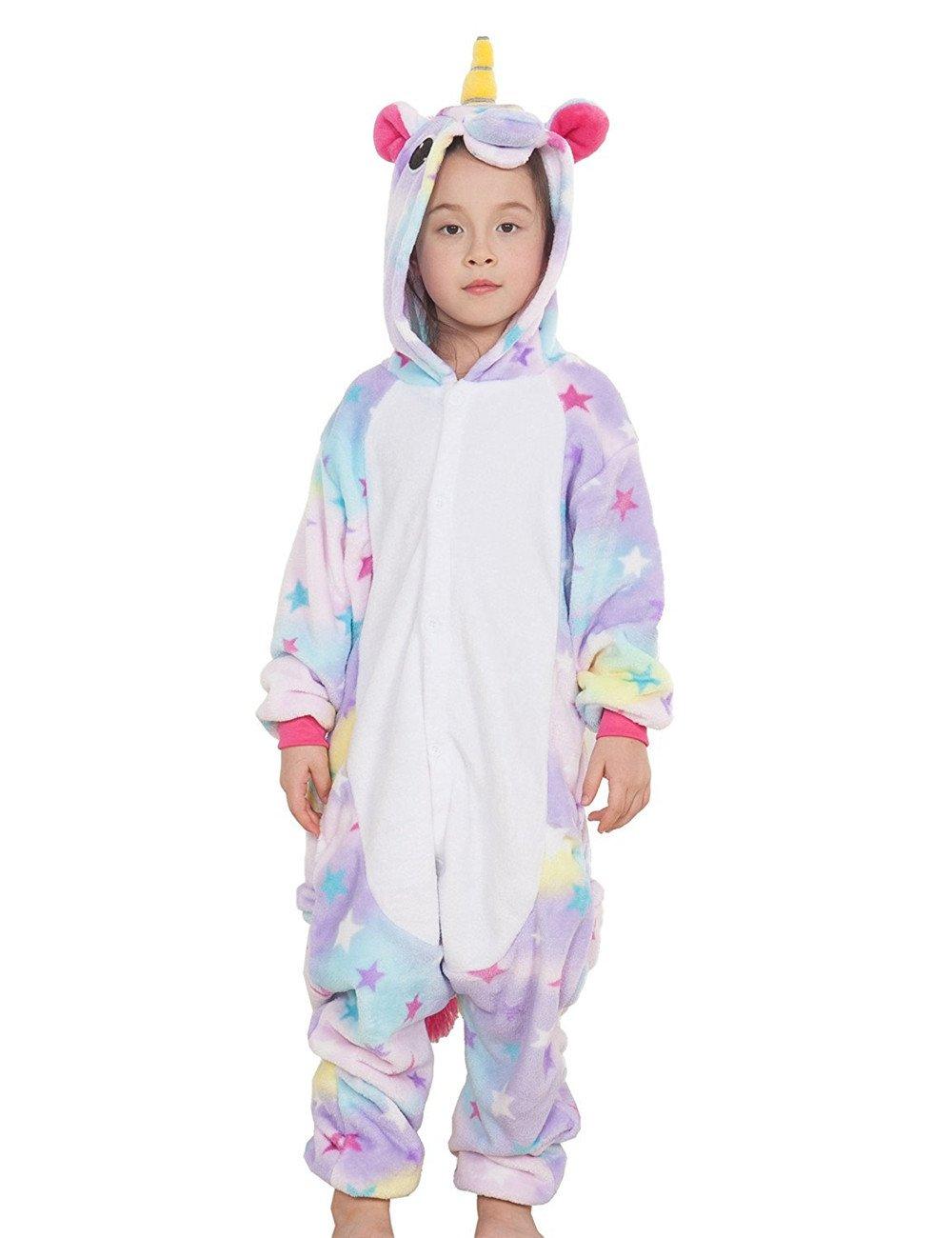 Bambini Unisex Unicorno Animali Pigiama Partywear Sleepwear Costumi Cosplay
