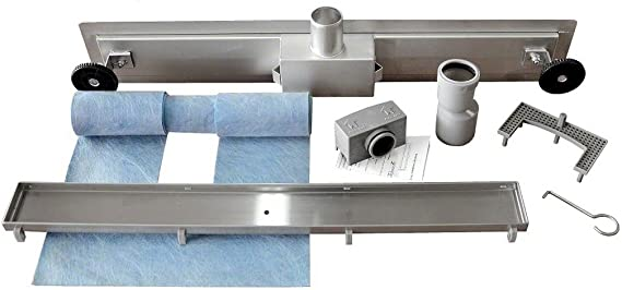 Rea NEO BUBBLE - Canal de desagüe para ducha (acero inoxidable, 50 cm, 500 mm): Amazon.es: Bricolaje y herramientas