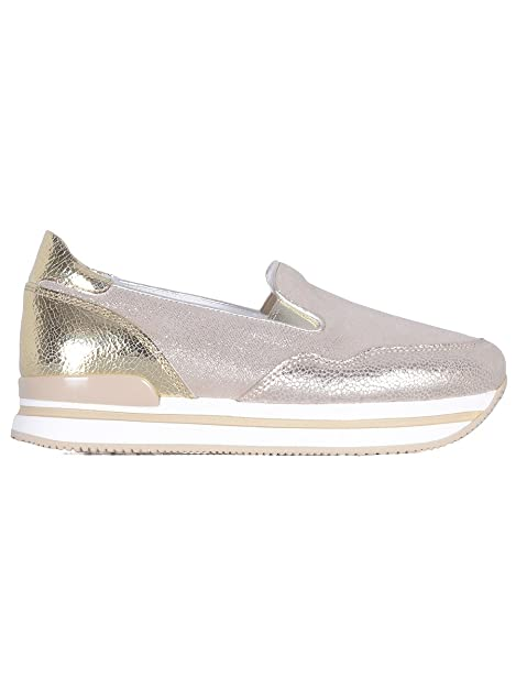 Hogan Slip On Sneakers Donna Hxw2220t671fob0pz8 Pelle Oro  Amazon.it  Scarpe  e borse 00b967b02c5