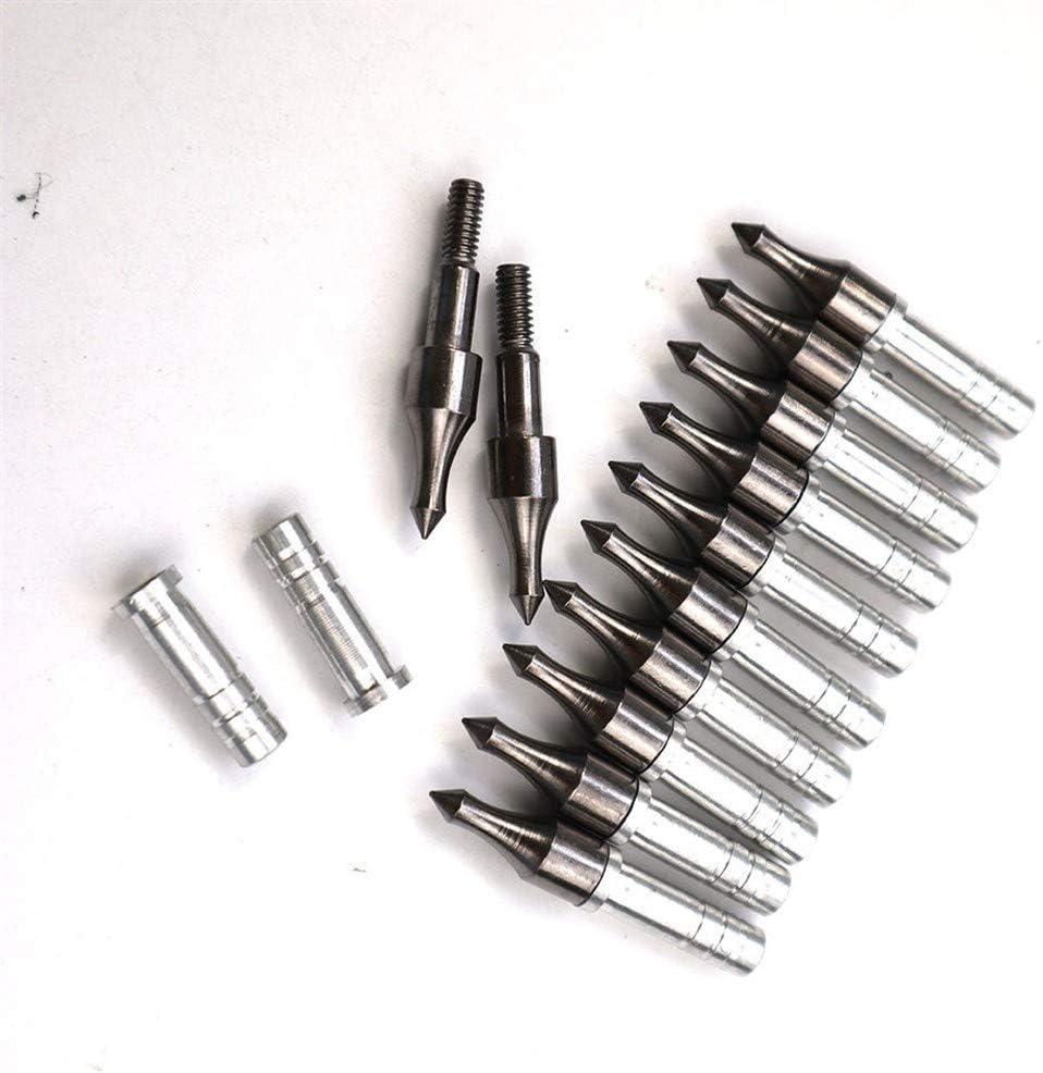 LI 12//24//36//50 100pc Point Cible 100 Grain Fl/èche Astuce Tir /à larc Broadhead Arrow Head en Aluminium Insert Fit ID6.2 Fl/èche darbre