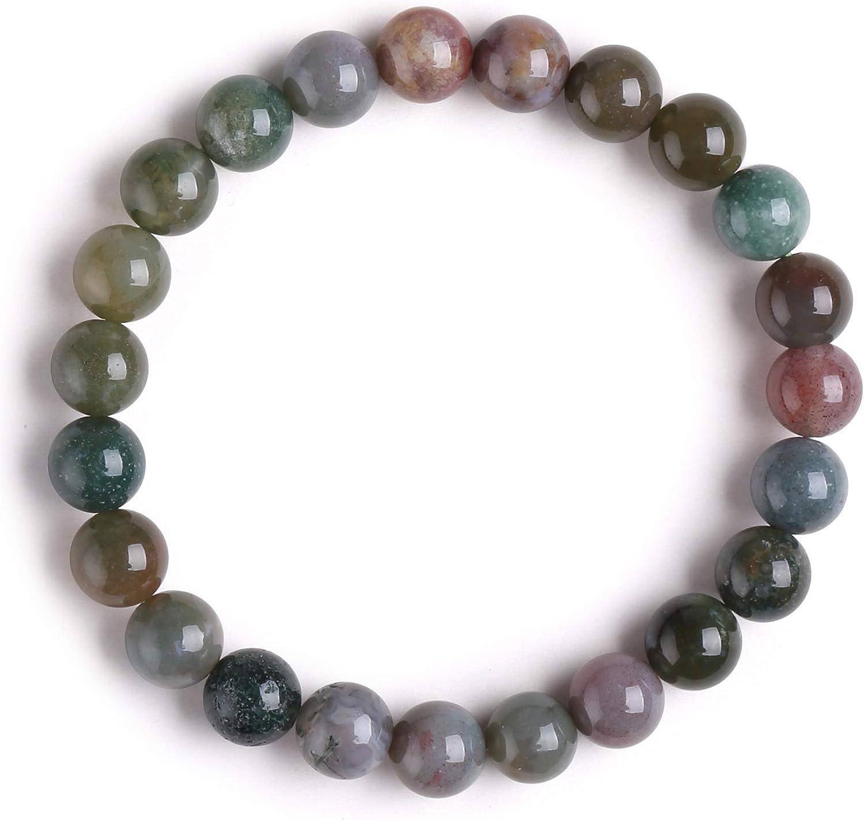 J.Fée Pulsera de Piedra Natural, Curación Pulsera Elástica Pulsera de Piedras Naturales para Mujer Pulsera de Cristal Yoga