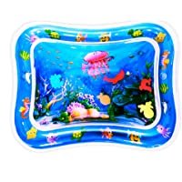 Tummy time mat Baby Belly time Water pad Soft Baby Toys Indoor Floor Inflatable Play pad, Crawling pad for Newborn Boys…