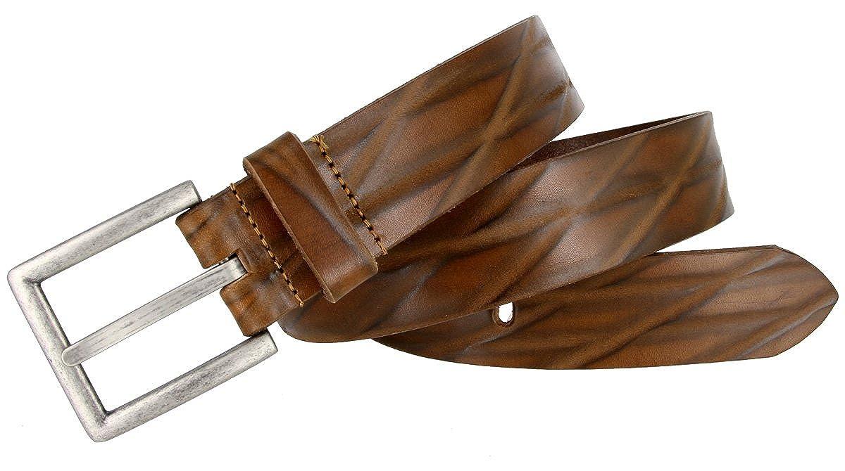 18622 Lejon Diamond Pattern Italian Leather Casual Dress Belt 1-1//2 wide