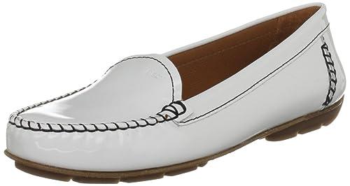 Geox D Italy G - Mocasines, color White, talla 39: Amazon.es: Zapatos y complementos