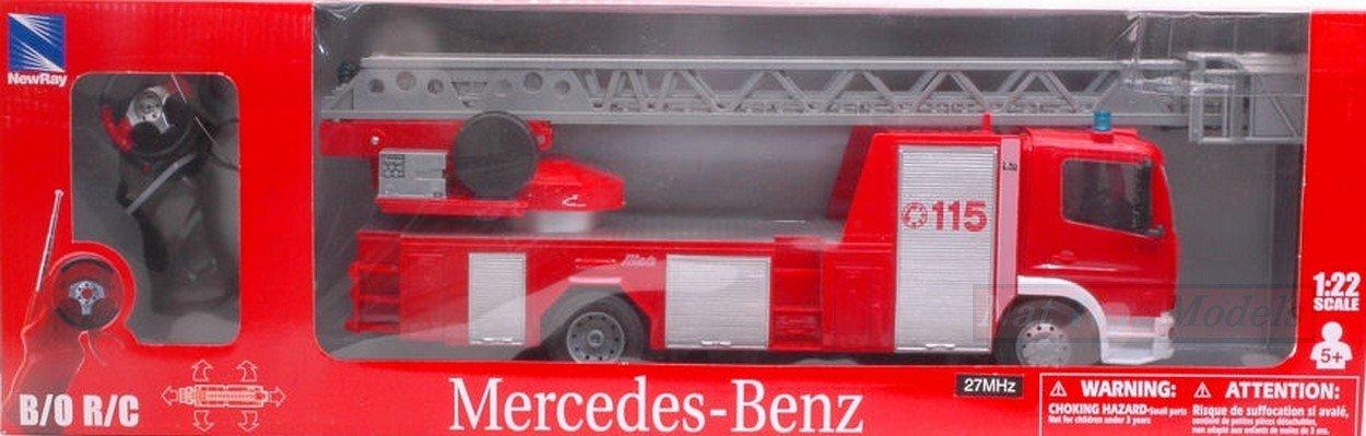 NEW RAY NY88133 Mercedes VIGILI DEL Fuoco RADIOCOMANDO 1:22 MODELLINO DIE CAST