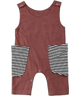 0883afc95 Newborn Kid Baby Boy Girls Print Sleeveless Romper Jumpsuit Outfits Summer  Clothes