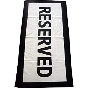 IGGI Reserved, 100% Cotton, Beach Towel, ...