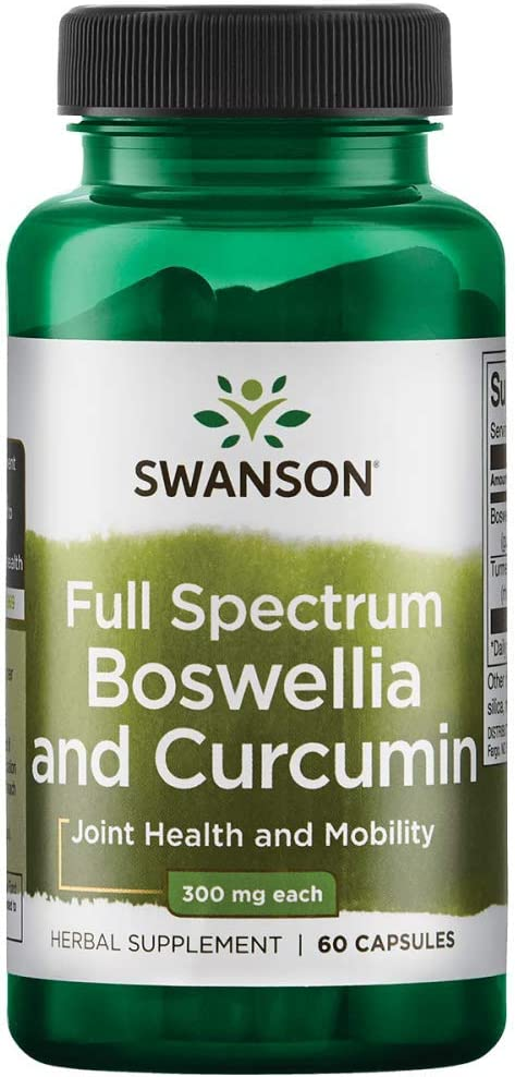 Swanson Full Spectrum Boswellia and Curcumin 60 Capsules(Packing May Vary)