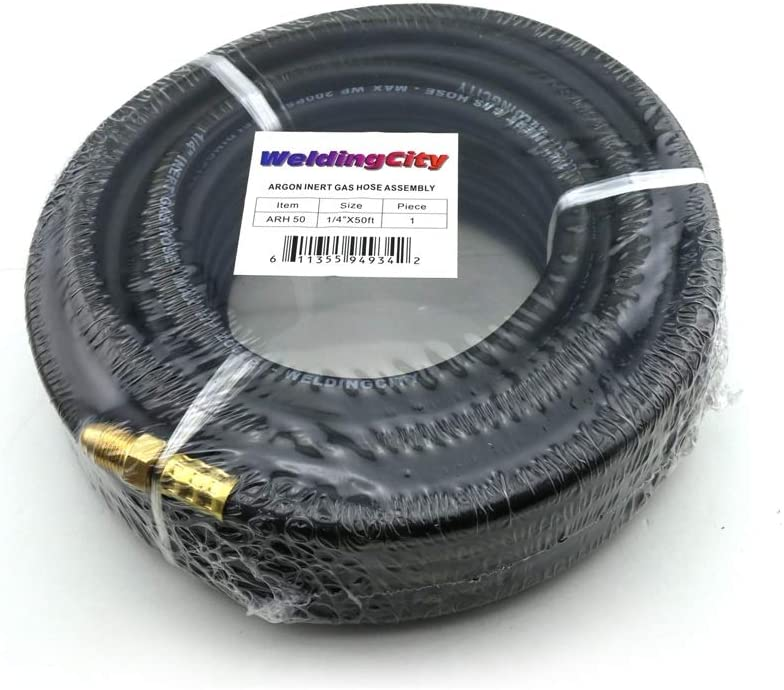 WeldingCity 10-ft 1//4 Inert Gas Hose Rubber B-B Fitting 5//8-18 RH UNF CGA032 for MIG//TIG Welding and Other Gas Process