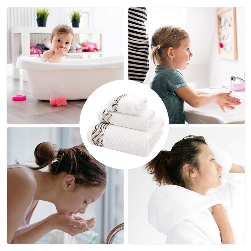 FUNRUI - Juego de Toallas de baño 3 en 1, Toallas de baño de algodón, Toallas de Mano para el Rostro, para el Cuerpo de la Mano, rápida absorción, ...
