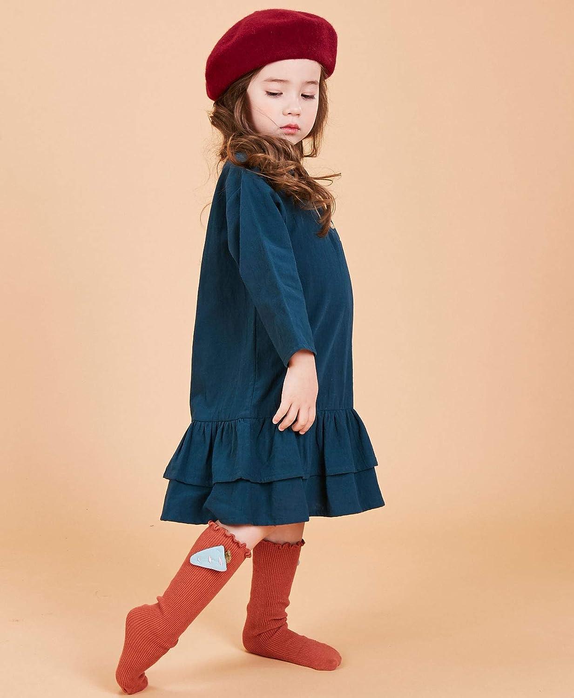 SenseFit Kids Girls Long Sleeve Casual Stripe Dresses 3-8 Years