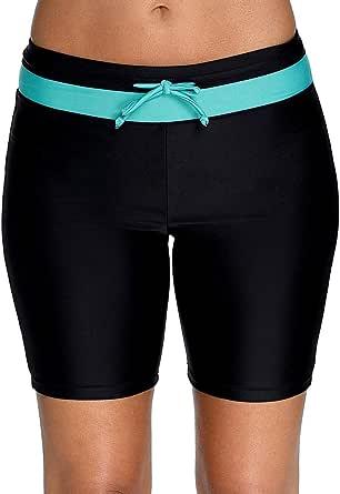 BeautyIn Women's UPF 50+ Athletic Board Shorts Swimsuit Bottom Skinny Jammer Swim Short