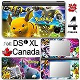 Pokemon SKIN DECAL COVER STICKER for Nintendo DSi XL LL