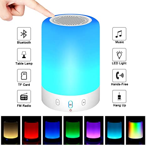 Review Night Light Bluetooth Speakers,POECES