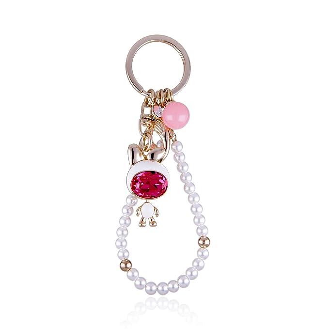 Amazon.com: Llavero de moda para las mujeres oro/plata clave ...