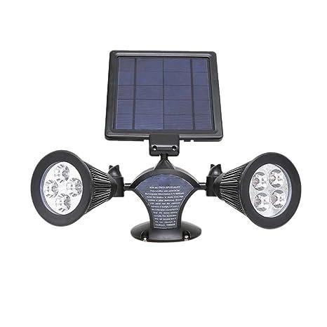 8LED Proyector Exterior doble cabeza Solar Projector LED foco ...