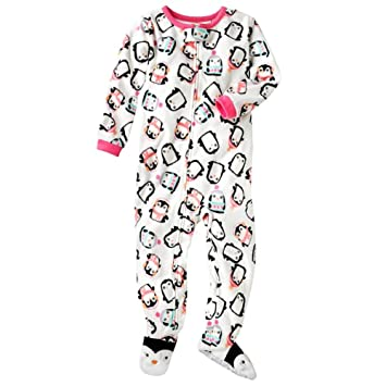 d771e01f68 Image Unavailable. Image not available for. Color  Carter s Baby Girls 1 Pc  Fleece Footed Blanket Sleeper Pajamas-Penguin-18 Months