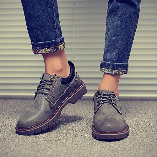 grigio Martin scarpe PYL Calzature stivali inglese e scarpe uomo casual di 42 cuoio HL OF5WxvdZnO