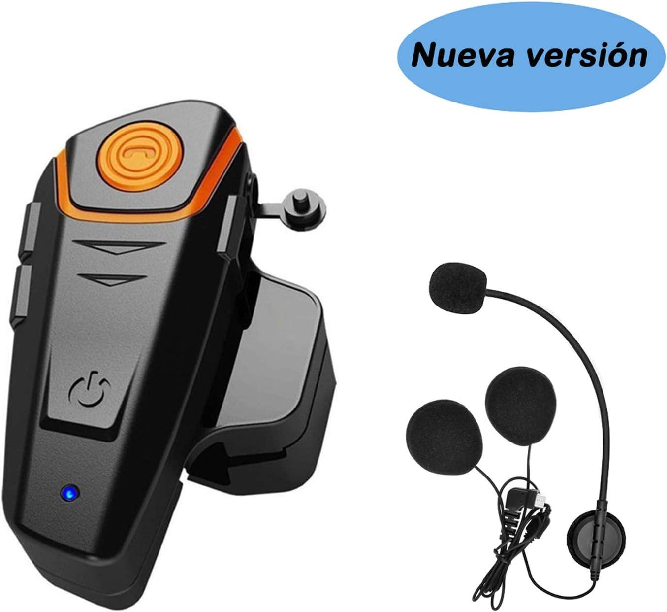 KOEITT BT S2 Intercomunicador Casco Moto,Auriculares Bluetooth para Motocicleta, 1000 m, Bluetooth, Sistemas de comunicación (BT-S2*1)