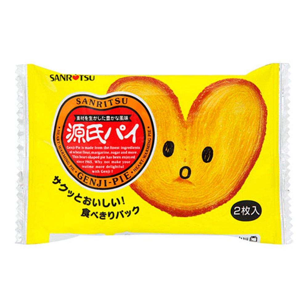 Genji Pie Suger & Butter Taste Heart Shaped Pie 0.7oz 20pcs Box Japanese Dagashi Sanritsu Ninjapo by Ninjapo