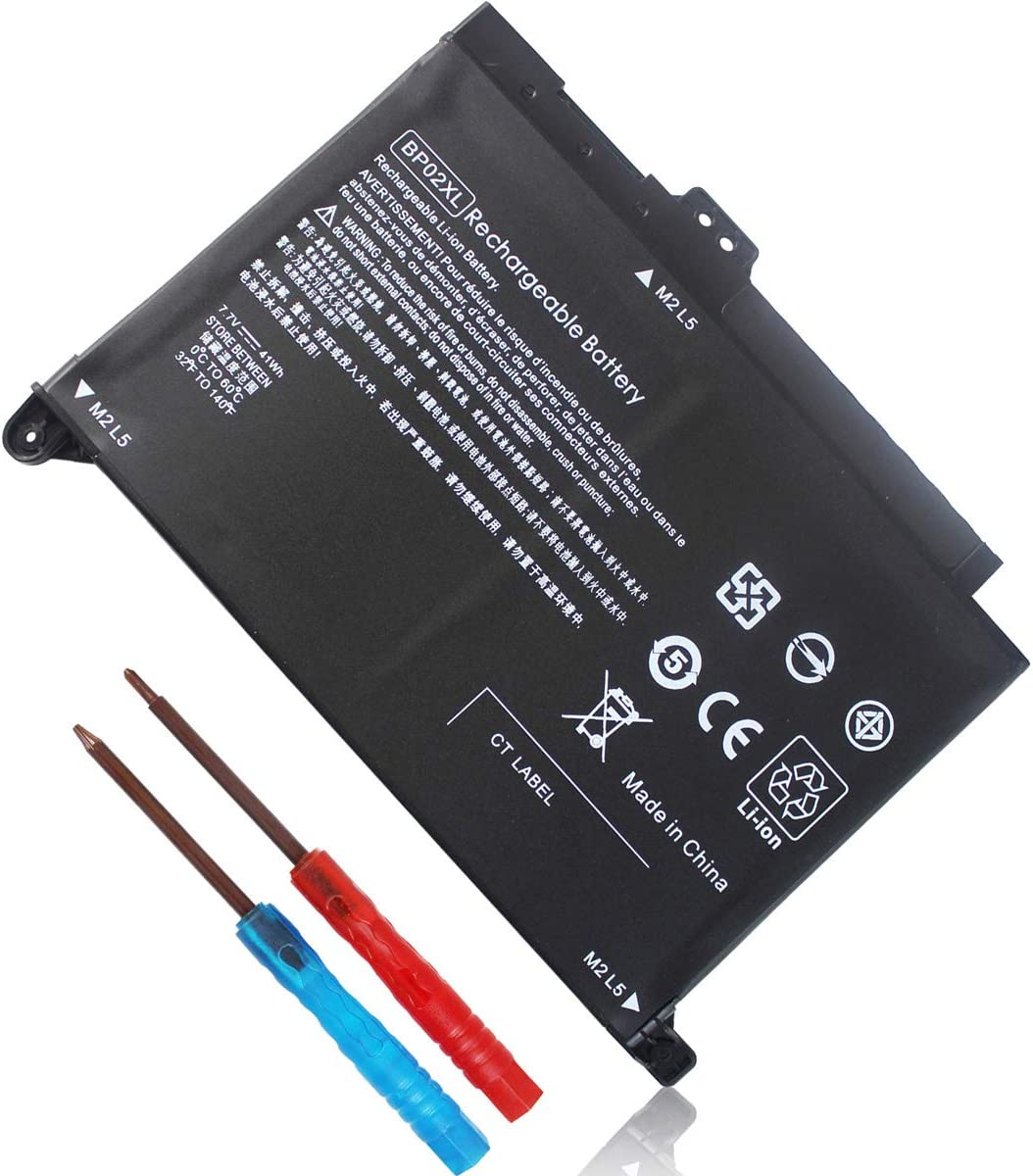 BP02XL 849909-850 Battery for HP Pavilion 15-AU000 15-AW000 Series 15-AU123CL 15-AU063CL 15-AU091NR 15-AW053NR 15-AU018WM 15-AU010WM 849569-421 849569-542 849909-855 HSTNN-UB7B HSTNN-LB7H 7.7V 41Wh
