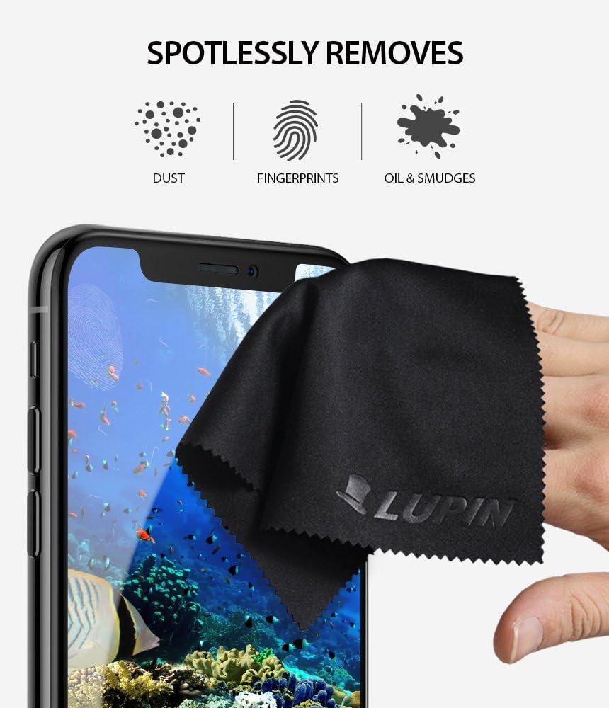 Tablettes iPad Gris Lunettes et Autres Surfaces Grand 4 Paquet Chiffon de Polissage Non Pelucheux de Qualit/é Sup/érieure pour T/él/éphone Portable Lupin Chiffons de Nettoyage en Microfibre