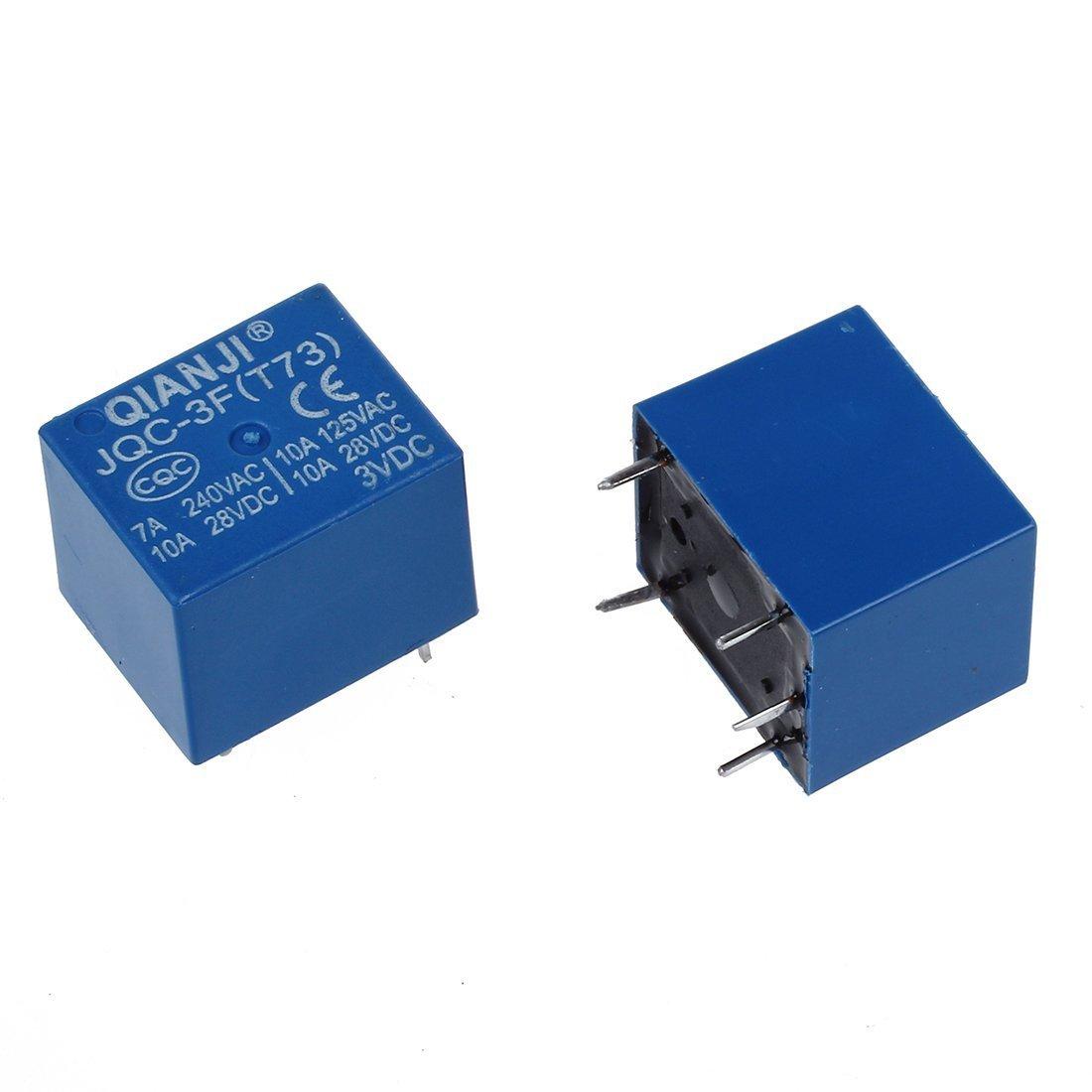 Sourcingmap 10 X Dc 3v Spule 10a 125v Ac 28v 5 Pins Spst Dc12v To Dc28v Converter With Lm2585 Leistung Relais Jqc 3f Baumarkt
