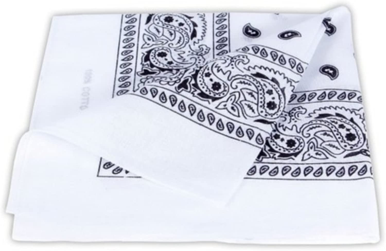 52cm x 52 cm//Tendance Accessoire de Mode Nouvelle Collection PURECITY/©/® Bandana Original Paisley 100/% Coton Foulard Qualit/é Sup/érieure//Unit/é//Lot de 6 3# Blanc Lot de 12