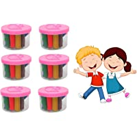 Leysin Set of 6 Pcs Clay Set for Kids to Play Best Birthday Gift for Kids Multicolor Pack of 1