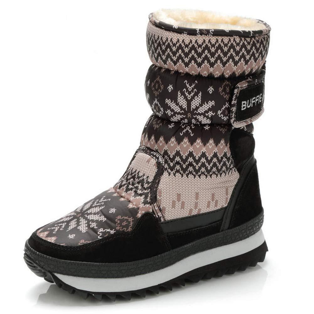 Winter Winter Winter Schnee Stiefel Frauen Kurze Plüsch Gefüttert Warme Schuhe Flache Niedrige Ferse Outdoor Anti Slip Wasserdichte Ankle Stiefelies Für Mädchen 0e7c9a