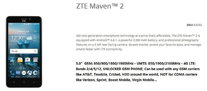 Amazon com: ZTE Z831 Prepaid Carrier Locked - 5 0