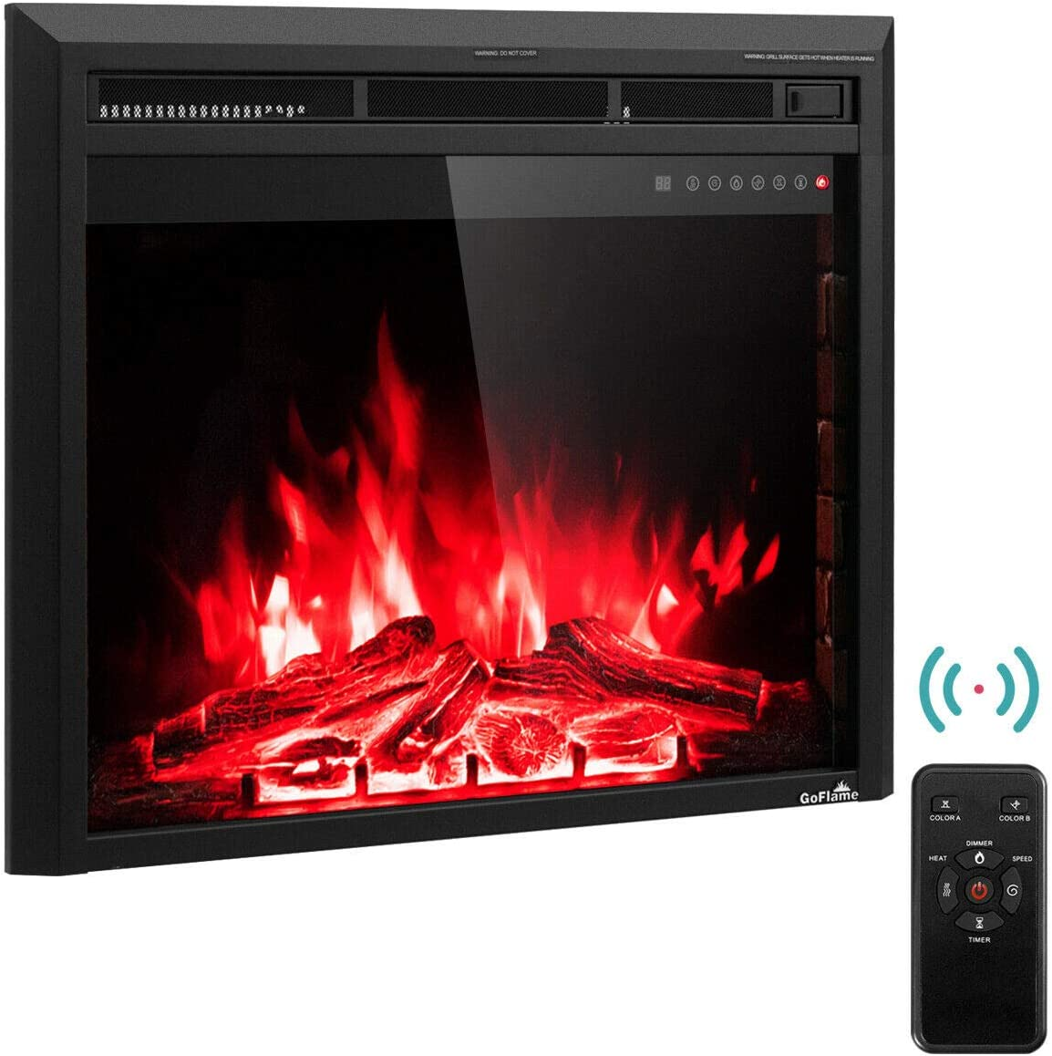Tangkula Electric Fireplace Insert 30